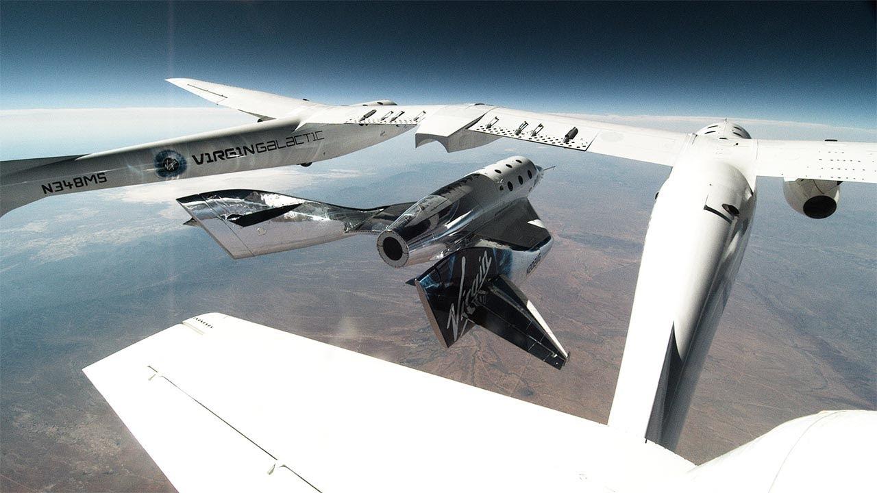 White Knight Two deploys SpaceShipTwo